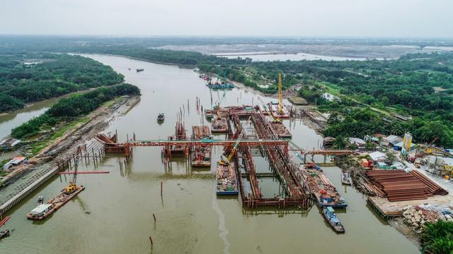 Những hình ảnh mới nhất của dự án chống ngập do triều 10.000 tỷ đồng ở TP.HCM - Ảnh 11.