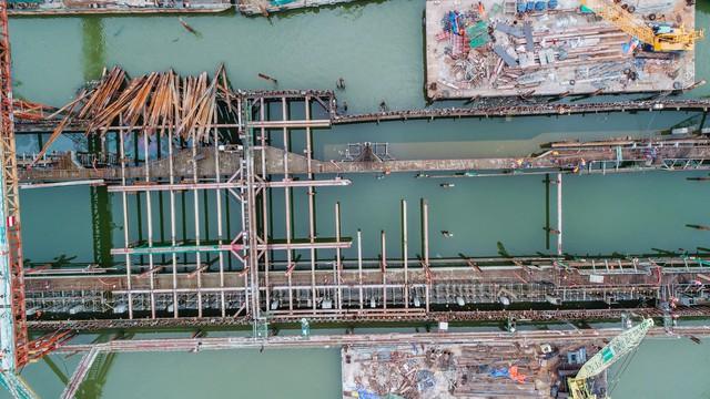 Những hình ảnh mới nhất của dự án chống ngập do triều 10.000 tỷ đồng ở TP.HCM - Ảnh 13.