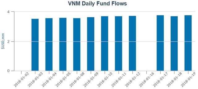 TTCK Việt Nam bùng nổ, V.N.M ETF và FTSE Vietnam ETF thu hút ròng hơn 50 triệu USD chỉ trong 3 tuần đầu năm - Ảnh 1.
