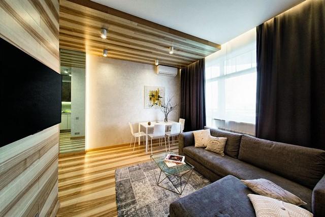 Ý tưởng sáng tạo với trần gỗ - Ảnh 2.