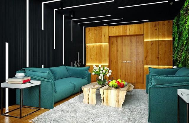 Ý tưởng sáng tạo với trần gỗ - Ảnh 4.