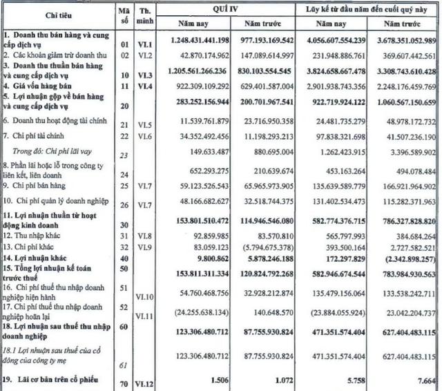 Giảm tồn kho và hoãn nộp thuế, Nhựa Bình Minh (BMP) báo lãi quý IV tăng vọt so với cùng kỳ - Ảnh 1.