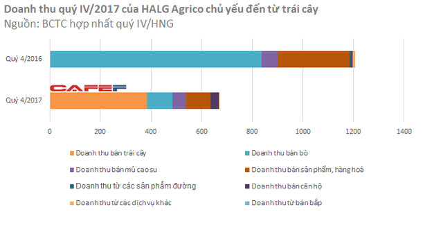 Trái cây giúp công ty nông nghiệp của bầu Đức bớt lỗ trong quý cuối năm - Ảnh 1.