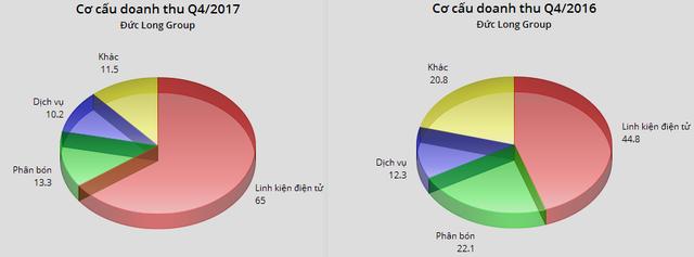 Đức Long Gia Lai (DLG): Mảng linh kiện điện tử tăng mạnh, LNST năm 2017 tăng 21% so với năm 2016 - Ảnh 1.