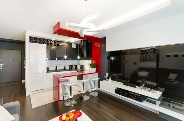 Nội thất căn hộ chung cư 43m2 được phối màu đẹp ngất ngây - Ảnh 2.