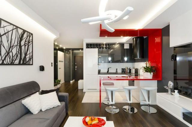 Nội thất căn hộ chung cư 43m2 được phối màu đẹp ngất ngây - Ảnh 5.