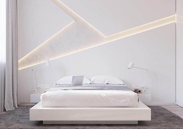 Phòng ngủ màu trắng nhẹ nhàng và thư giãn - Ảnh 1.