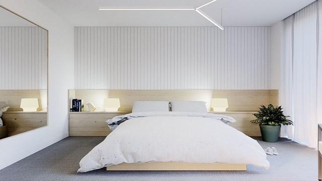 Phòng ngủ màu trắng nhẹ nhàng và thư giãn - Ảnh 4.