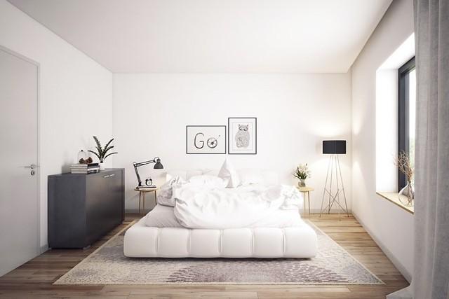 Phòng ngủ màu trắng nhẹ nhàng và thư giãn - Ảnh 6.