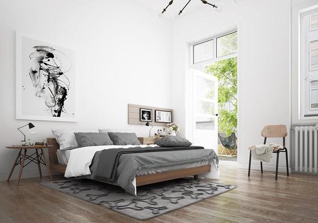 Phòng ngủ màu trắng nhẹ nhàng và thư giãn - Ảnh 7.