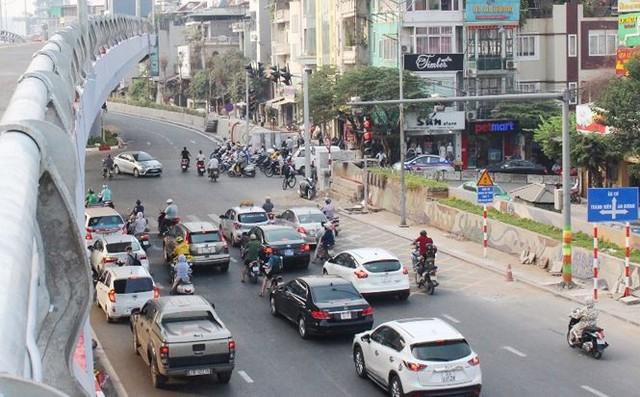 Toàn cảnh cầu vượt An Dương thông xe sáng nay  - Ảnh 7.