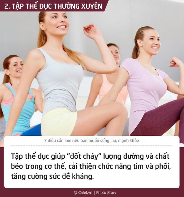 7 điều cần làm nếu bạn muốn sống lâu, mạnh khỏe - Ảnh 2.