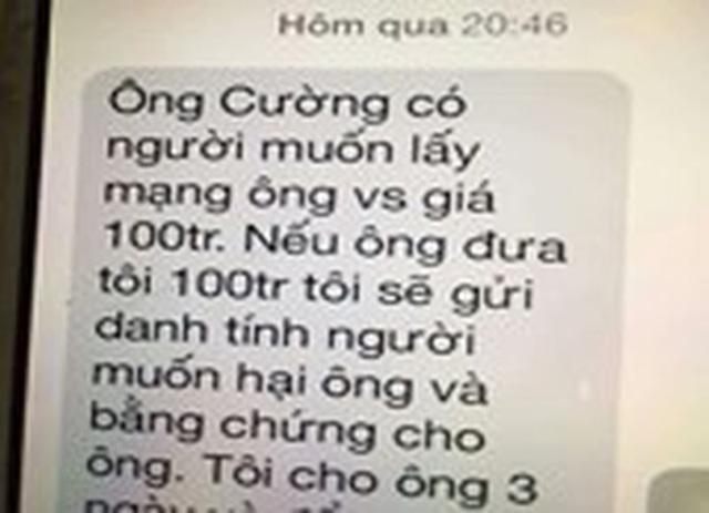Tin nhắn đe dọa lãnh đạo VP đoàn ĐBQH là SIM rác từ TP.HCM - Ảnh 2.