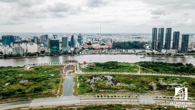 Cận cảnh dự án cầu 4.260 tỷ đồng đang thi công bắc qua sông Sài Gòn nối Quận 1 có Quận 2 - Ảnh 4.