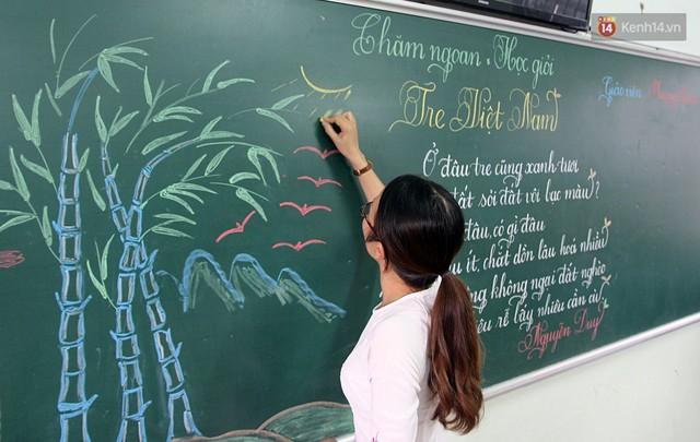 Gặp 18 cô giáo Quảng Trị viết chữ đẹp như vẽ tranh vừa gây sốt MXH: Học sinh trong trường chữ cũng siêu đẹp - Ảnh 7.