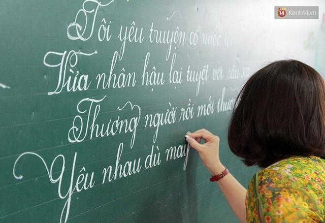 Gặp 18 cô giáo Quảng Trị viết chữ đẹp như vẽ tranh vừa gây sốt MXH: Học sinh trong trường chữ cũng siêu đẹp - Ảnh 8.