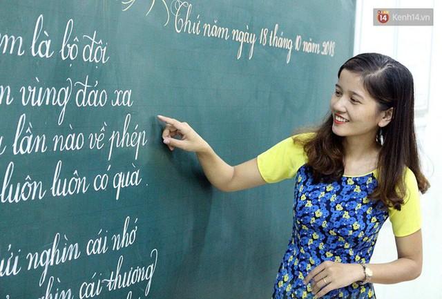 Gặp 18 cô giáo Quảng Trị viết chữ đẹp như vẽ tranh vừa gây sốt MXH: Học sinh trong trường chữ cũng siêu đẹp - Ảnh 9.