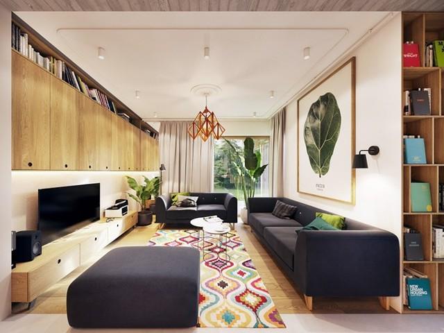 Tạo điểm nhấn ấn tượng cho ngôi nhà có màu xanh lá cây - Ảnh 1.