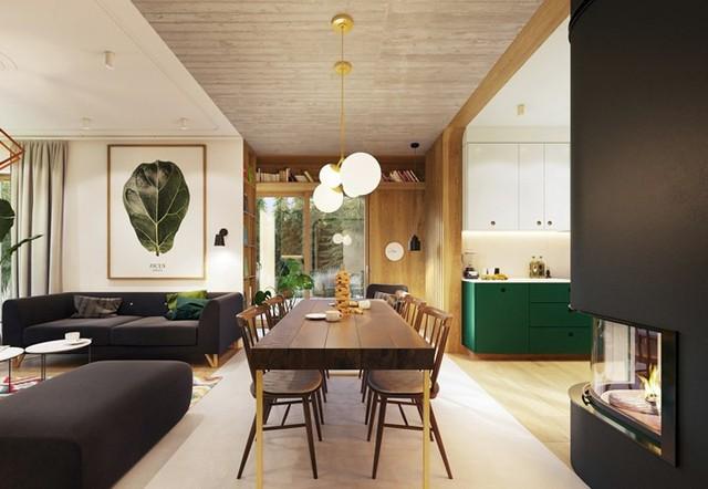 Tạo điểm nhấn ấn tượng cho ngôi nhà có màu xanh lá cây - Ảnh 3.