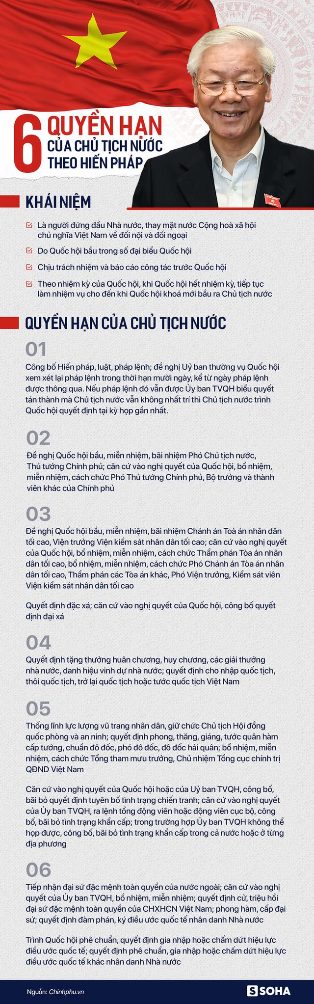 6 quyền hạn của Chủ tịch nước theo Hiến pháp - Ảnh 1.