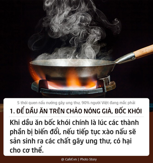 5 thói quen nấu nướng gây ung thư, 90% người Việt đang mắc phải: Thay đổi ngay nếu không muốn con cái cũng phải chịu nạn!  - Ảnh 1.