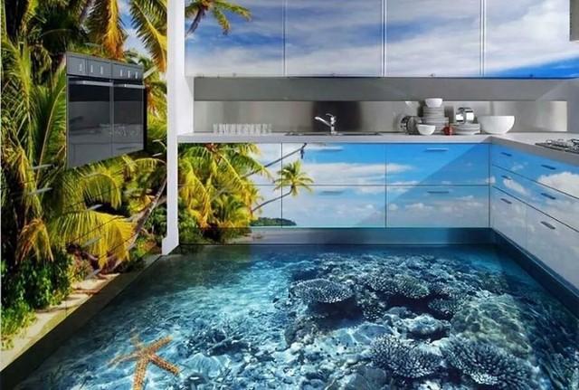 Những sàn nhà lát hình 3D khiến căn phòng như hòa mình vào môi trường xung quanh - Ảnh 13.