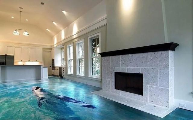 Những sàn nhà lát hình 3D khiến căn phòng như hòa mình vào môi trường xung quanh - Ảnh 15.