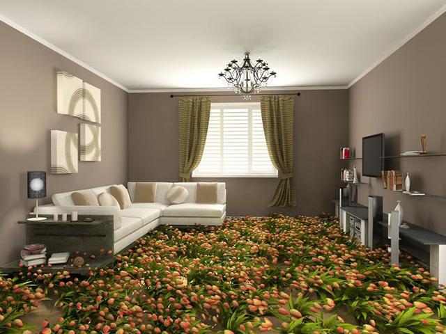 Những sàn nhà lát hình 3D khiến căn phòng như hòa mình vào môi trường xung quanh - Ảnh 3.