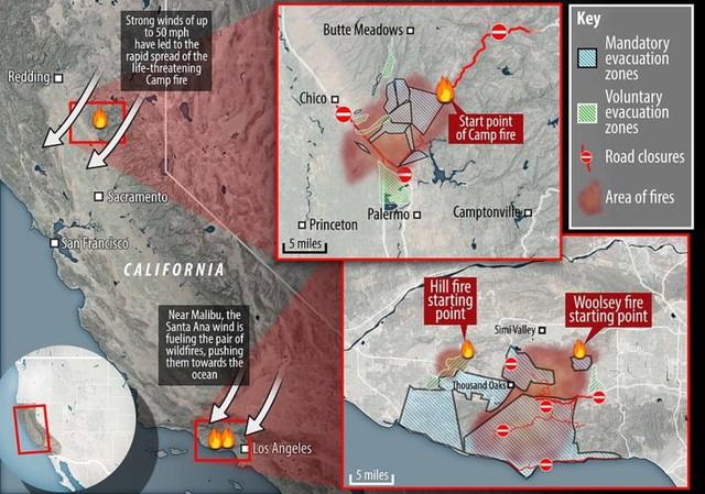 """Hãi hùng cảnh cháy rừng giống """"bom hạt nhân phát nổ"""" ở California, Mỹ - Ảnh 5."""