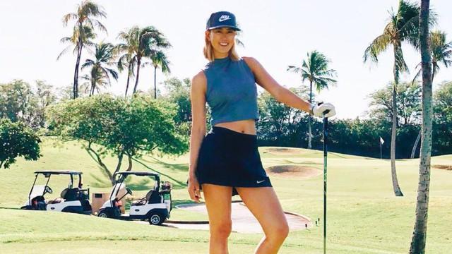Những bóng hồng nóng bỏng trong làng golf: Hút mắt người hâm mộ không chỉ bằng nhan sắc mà còn có kỹ thuật cầm gậy tuyệt vời - Ảnh 1.