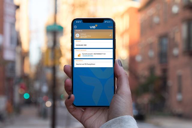 VIB triển khai tính năng chuyển tiền chứng khoán VnDirect - Ảnh 1.