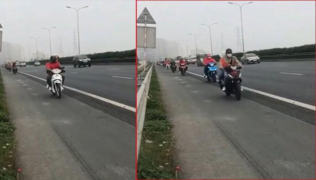 Đoàn xe máy nối đuôi đi vào đường cao tốc Pháp Vân - Cầu Giẽ: CSGT nói gì? - Ảnh 1.