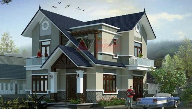 10 thiết kế biệt thự 2 tầng có mức đầu tư vừa phải - Ảnh 2.