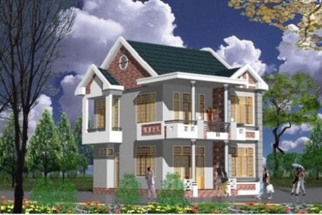 10 thiết kế biệt thự 2 tầng có mức đầu tư vừa phải - Ảnh 4.