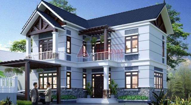 10 thiết kế biệt thự 2 tầng có mức đầu tư vừa phải - Ảnh 9.