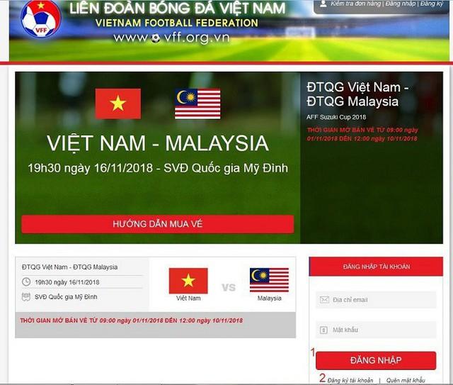 Hướng dẫn cách mua vé trận bán kết AFF Cup Việt Nam vs Philippines - Ảnh 1.