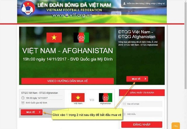 Hướng dẫn cách mua vé trận bán kết AFF Cup Việt Nam vs Philippines - Ảnh 2.