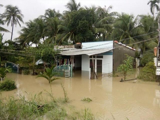 Nhà cửa bị vây trong biển nước ở Khánh Hòa nhìn từ trên cao - Ảnh 3.