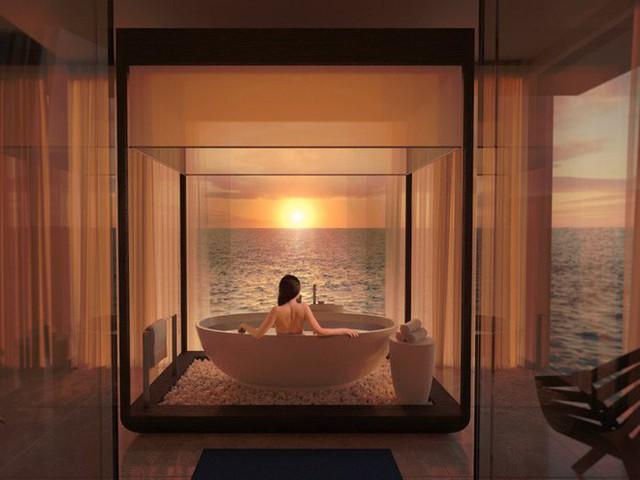 Bên trong khách sạn dưới biển đầu tiên trên thế giới, nơi bạn có thể ngủ cạnh cá mập với chi phí 1 tỷ/1 đêm - Ảnh 4.