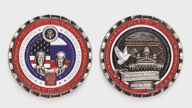 Chi chít lỗi sai ngớ ngẩn trên đồng tiền Nhà Trắng phát hành kỷ niệm hội nghị thượng đỉnh Mỹ-Nga - Ảnh 1.