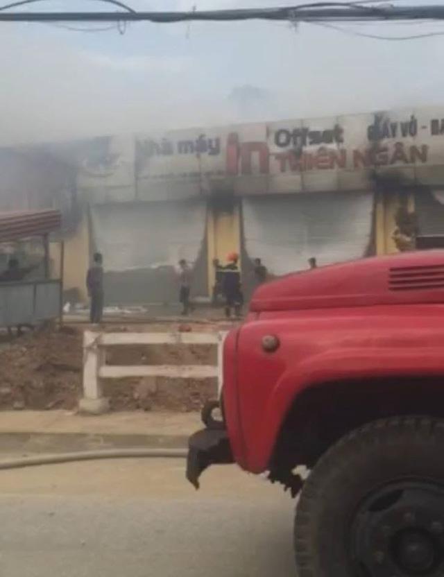 Lạng Sơn: Cháy lớn ở cơ sở in Thiên Ngân   - Ảnh 1.