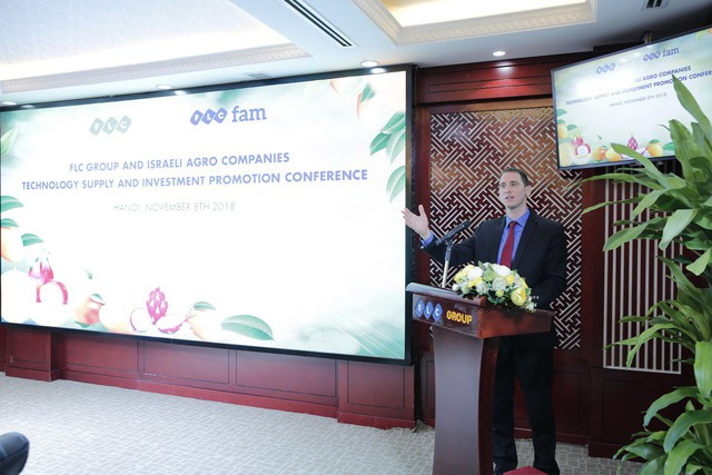 12 doanh nghiệp Israel tìm cơ hội đầu tư nông nghiệp với Tập đoàn FLC - Ảnh 1.