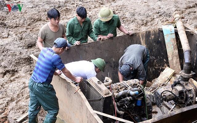 Sập mỏ vàng ở Hòa Bình: Hình ảnh cứu hộ ngày thứ 5 liên tiếp - Ảnh 12.