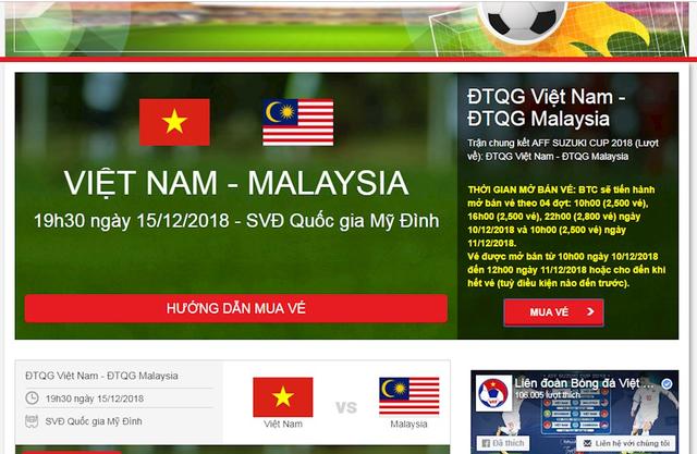 Mở bán vé trận chung kết lượt về AFF Cup 2018 đợt cuối cùng: Lại điệp khúc nghẽn mạng ngay từ giây đầu tiên! - Ảnh 1.