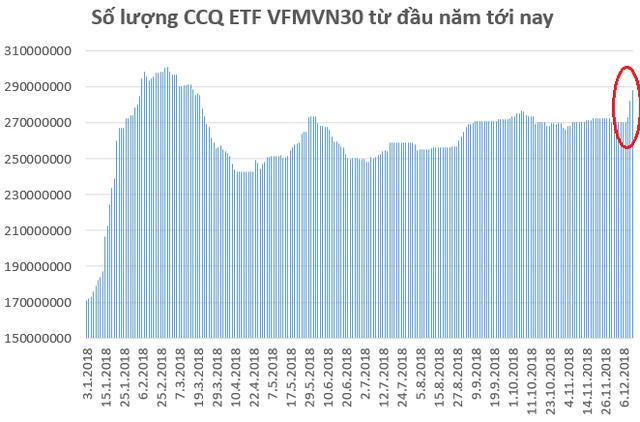 Thấy gì đằng sau việc khối ngoại chi hàng trăm tỷ đồng mua chứng chỉ quỹ VFMVN30 ETF chỉ trong vài phiên giao dịch? - Ảnh 2.