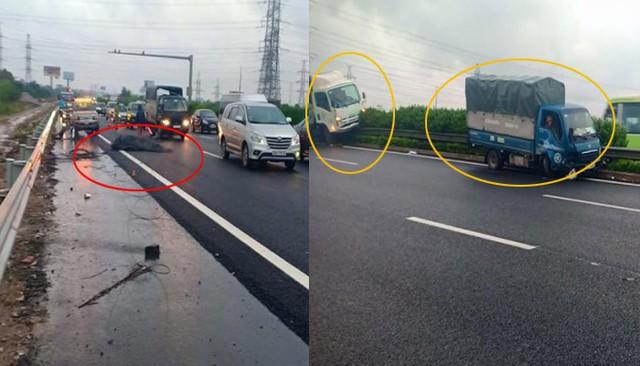 Truy tìm ô tô làm rơi cuộn sắt gây tai nạn liên hoàn trên cao tốc Pháp Vân - Cầu Giẽ - Ảnh 1.