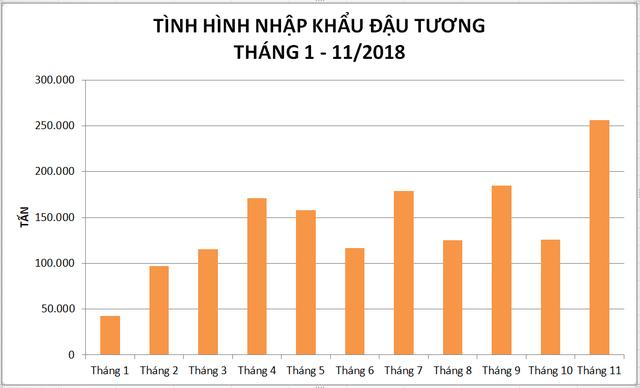 Đậu tương ùn ùn về Việt Nam vì chiến tranh thương mại Mỹ - Trung - Ảnh 1.