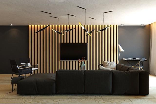 Ngôi nhà tuyệt đẹp nhờ chọn tường làm từ nan gỗ - Ảnh 3.