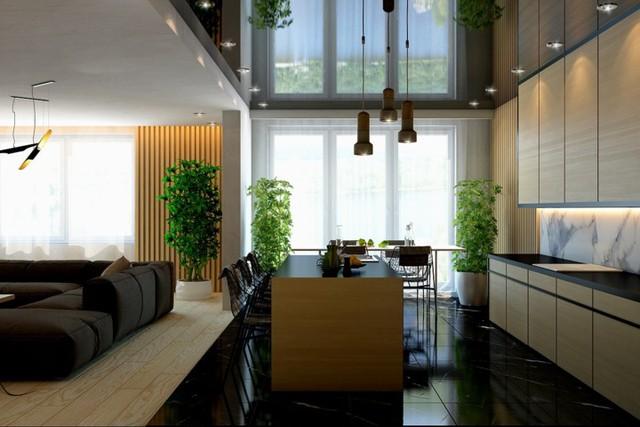 Ngôi nhà tuyệt đẹp nhờ chọn tường làm từ nan gỗ - Ảnh 4.