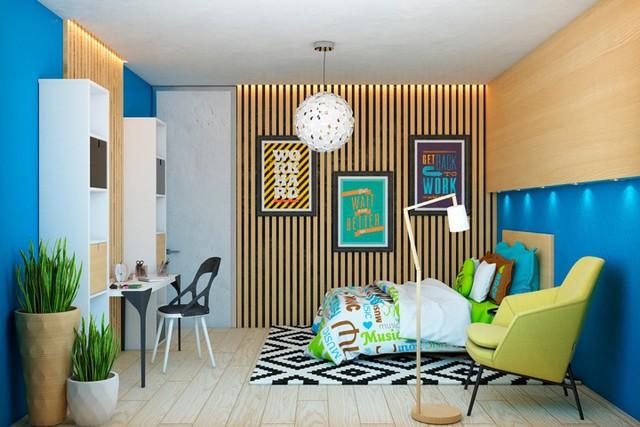Ngôi nhà tuyệt đẹp nhờ chọn tường làm từ nan gỗ - Ảnh 6.